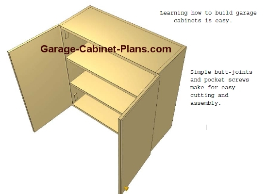 how to build a wall cabinet for garage