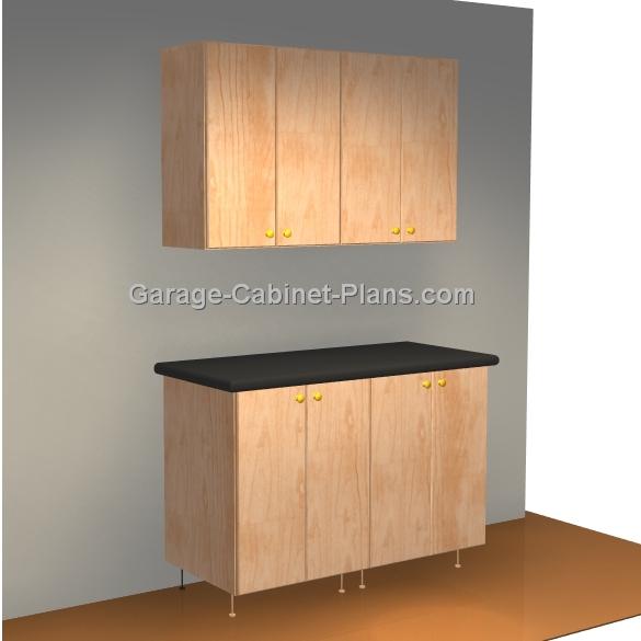 Plywood Garage Cabinet Plans: Easy 4 Ft Garage Cabinet Plans