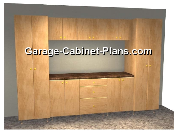 Exceptionnel 10 Ft Garage Cabinet Plans   9 Pc Set