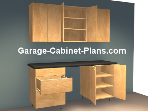 High Quality 6 Ft Plywood Garage Cabinet Plans