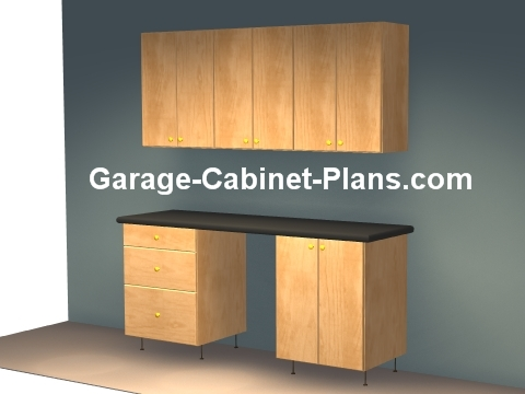 6 ft Plywood Garage Cabinets & 6 ft Plywood Garage Cabinet Plans - Garage Cabinet Plans